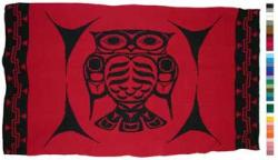 Owl is honored in this Pacific Northwest Knit Blanket