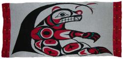 Bear is honored in this 4 color Pacific Northwest Knit Blanket