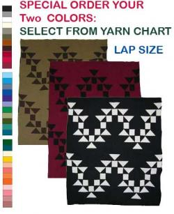 Osprey Design featured on this two color Hupa Karuk Yurok Lap Blanket