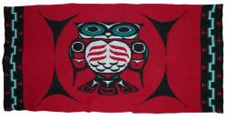 Owl is honored in this 4 Color Pacific Northwest Knit Blanket