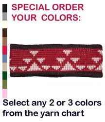Knit Headband featuring the Goose Design ~ Select Own Colors in Merino Wool or A