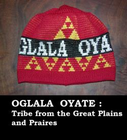 Knit Cap honoring the Oglala Oyate: Tribe from the great Plains and Praires