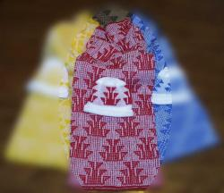 All Over Foot Design Featured on this Native Baby  Blanket and Cap Set