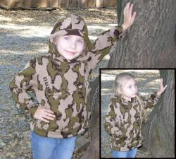 """A Child Knit Hoodie Camo Classic© Winona Pullover Sweatshirt ~ choose color and"