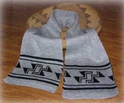 Stairway to Heaven Native Scarf ~ Select Acrylic or Merino Wool Yarn and Colors