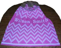 Friendship Personalized Design Featured on this Native knit Baby Crib Size Blank