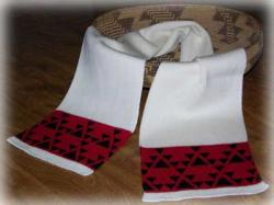 Double Goose Native Scarf ~ Select Acrylic or Merino Wool Yarn and Colors