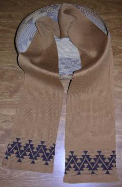 Sport's Tattoo Native Scarf ~ Select Acrylic or Merino Wool Yarn and Colors