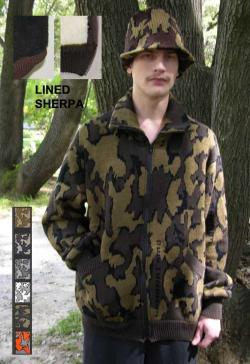 """""""A Knit Lined Winona Camo™ Classic Cardigan Jacket ~ choose color & Size ~ 100%"""