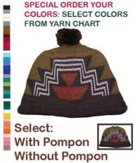 Crow's Knee Basketry Design of the Klamath / Modoc on this Native Cap