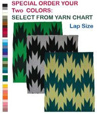 Swallow Tail Design featured on this two color Hupa Karuk Yurok Lap Blanket