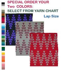 Friendship Design featured on this two color Hupa Karuk Yurok Lap Blanket