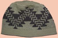 Basketry Design of the Ajumawi Band Pit River Tribe on Knit Cap
