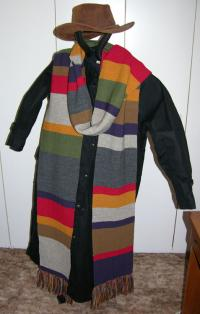 A Replica of the Season 12 Dr Who Style Scarf ~ Select Length ~ Wool ~ Garter St