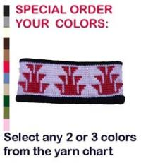 Native American Knit Headband ~ Select your Colors in Acrylic or Merino Wool