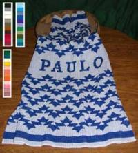 Morning Star Personalized Design Featured on this Native knit Baby Crib Size Bla
