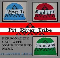 Personalize the Native Cap with your Name to Use ~ Pit River Design