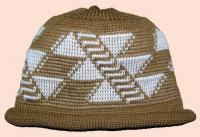 Deer Rib Design is featured on this Native Knit Cap