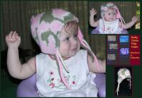 Acrylic Knit Baby Camo Flap Cap ~ Choose Newborn or 6 M and Select Color
