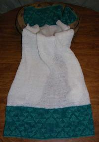 Little Goose Design Featured on this Native Baby Receiving Blanket