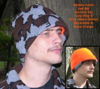 """A Knit Winona Camo© Survivor Hat ~ Select Colorway ~ Classic or Elite"""