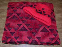 All Over Goose Design Featured on this Native Baby  Blanket and Cap Set