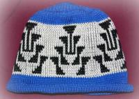 Frog Foot Version 1 Native Basketry Mark on this Child Indian Beanie