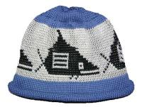 Pacific Northwest Art Style Whale Motif on this Native Knit Beanie Cap