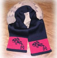 Jumping Salmon PNW Native Scarf ~ Select Acrylic or Merino Wool Yarn and Colors