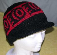 Little Bear Paw Pacific Northwest Art Style in this Native Knit Visor Beanie