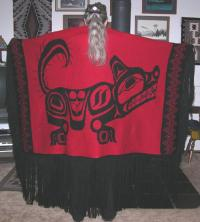 Dance Shawl ~ Acrylic or Merino ~ PNW Wolf Design ~ Salish Reproduction