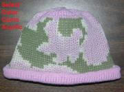 Baby Camo Beanie Hat ~ Acrylic Camo Design ~ Choose Newborn or 6 M and Color ~ r