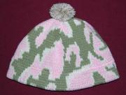 Baby Camo Beanie Hat ~ Camouflage Design ~ Choose Newborn or 6 M and Color ~ Acr