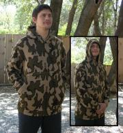 """A Knit Hoodie Camo Classic© SPECIAL SIZE LARGE Winona Pullover Sweatshirt"